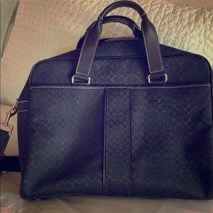 NWT Coach business brief case/ laptop bag